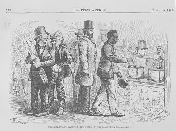 Thomas Nast The Negro at the Ballot Box