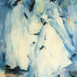 Image Credit: Virgie Ezelle Patton, In Senegal, Women of Color, (1980s), Watercolor on Paper, 24 x 32, Courtesy of the Ted Sherron Collection