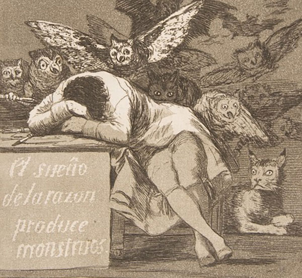 Franciso Goya, The sleep of reason produces monsters (No. 43)
