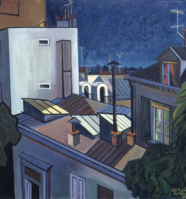 Lois Mailou Jones, Paris Rooftops, Montmartre